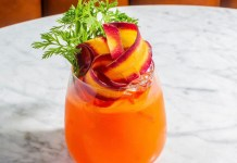 The Fat Radish Carrot Aperol Spritz cocktail recipe