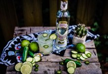 spicy cucumber margarita corralejo tequila cocktail recipe