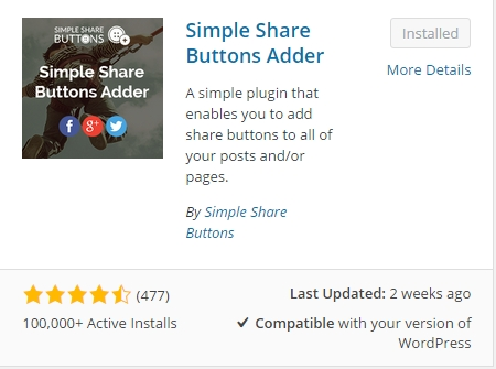 Simple Share Button Adder