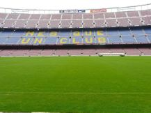 Camp Nou from the sideline
