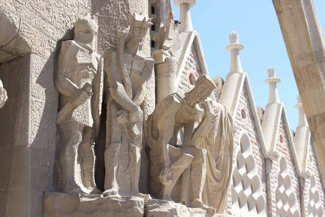 Sagrada Familia sculptures close up