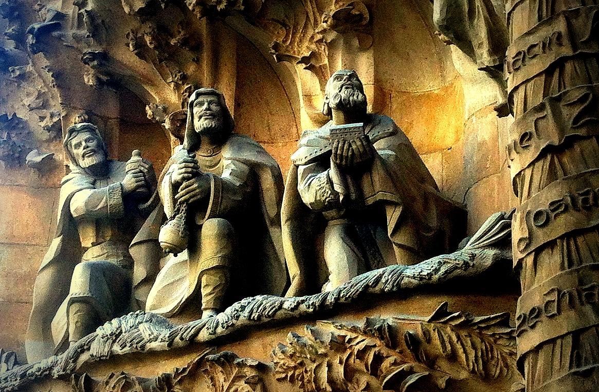 Resultado de imagen de Gaudí Sagrada Familia Reyes Magos