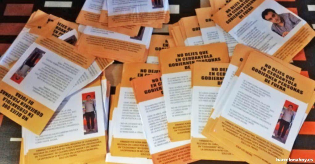 Panfletos difamatorios contra candidatos de Ciudadanos
