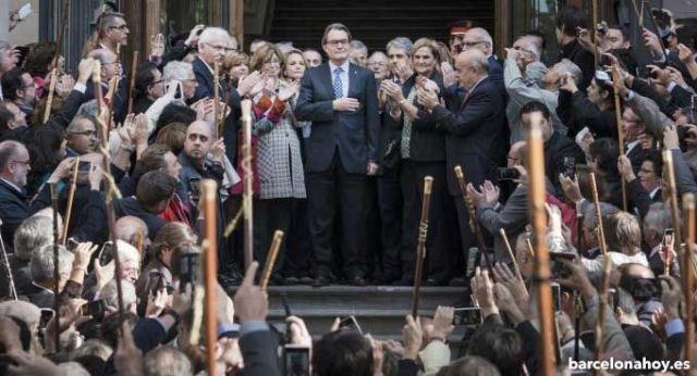 Arur Mas a la salida del juicio del 9N.