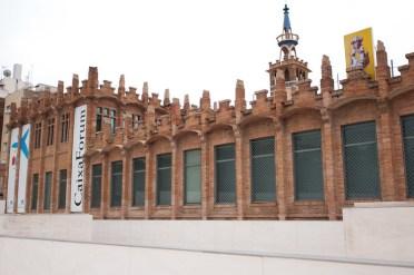 CaixaForum Barcelona gebouw aan de buitenkant