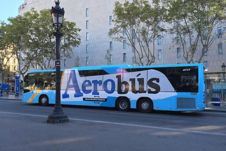 aerobus bij Plaça Catalunya