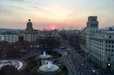 Uitzicht vanaf El Corte Inglès