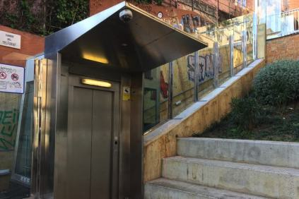 De lift naar de Bunkers