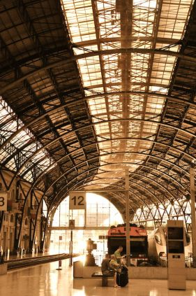 Interieur Station Francia in Barcelona