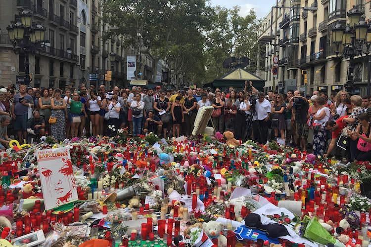 Aanslag Barcelona Ramblas herdenkingsplek