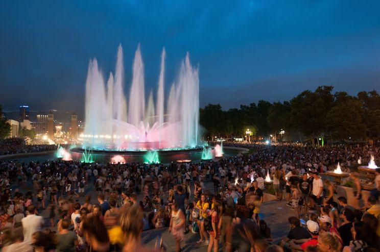 Magische fonteinshow Barcelona