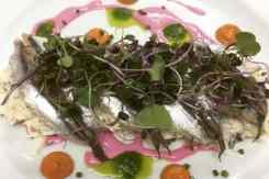 Gerecht Iposa Vis met roze saus