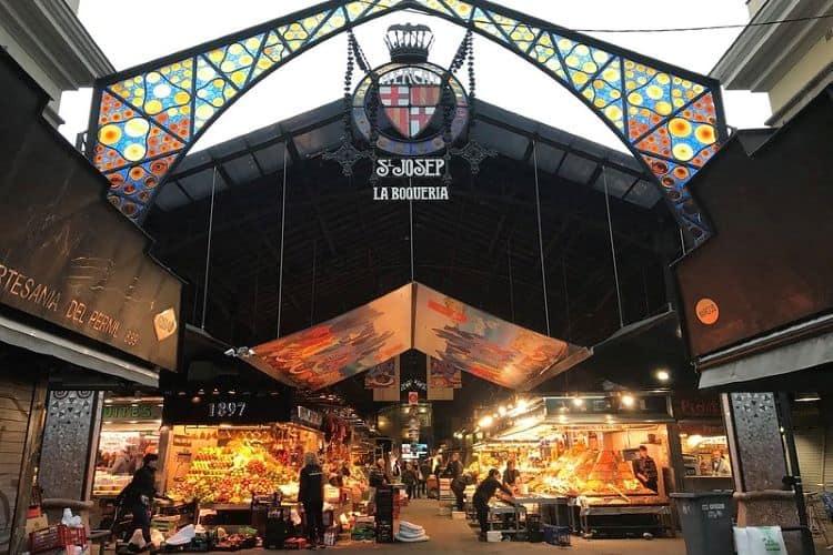Ingang versmarkt La Boqueria