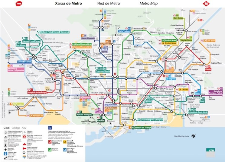 map metro barcelona