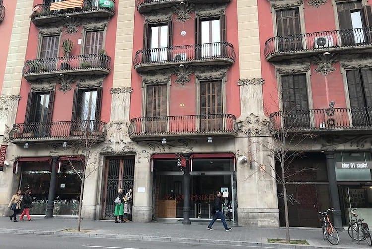 Museu del modernisme facade in Barcelona