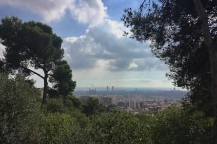 Park Guell uitzicht Barcelona