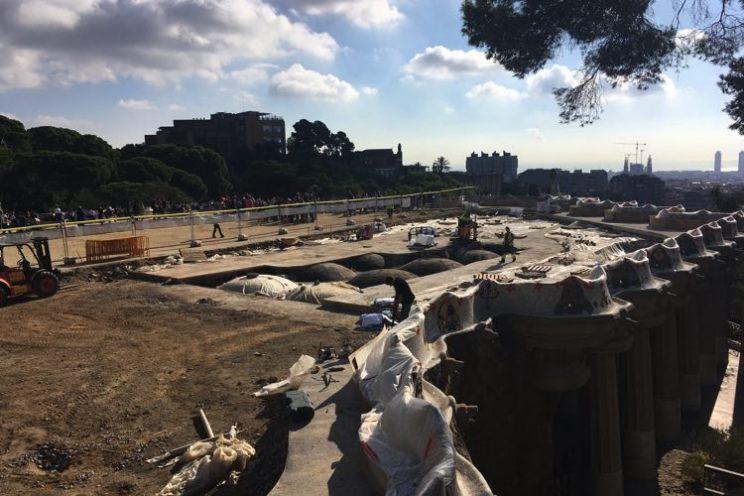 park guell gebouwd bouwen