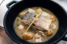 Gerecht met vis restaurant Pla