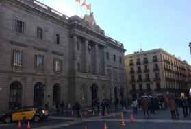 Taxi's op Plaça Sant Jaume