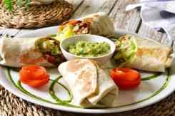 Burrito's met groenten en guacamole Veggie Garden