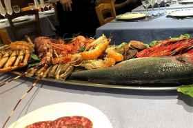 Diverse soorten vis restaurant Salamanca