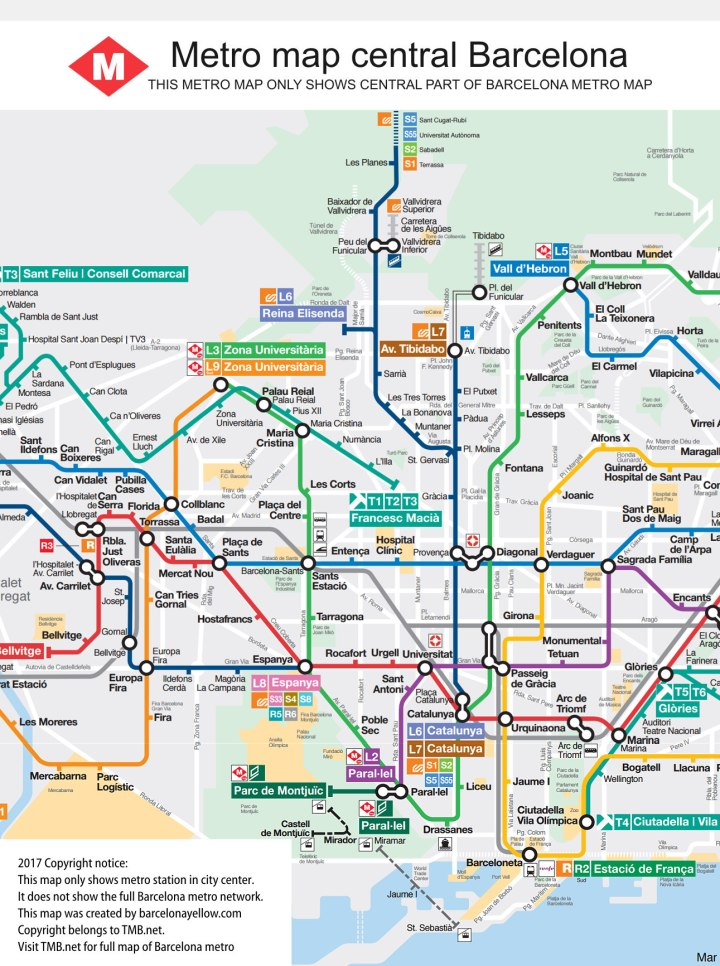 maps update 30722069 tourist attractions map in barcelona