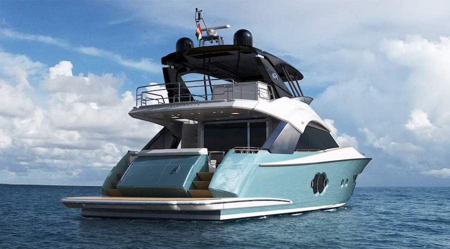 Monte Carlo Yachts 66 da poppa