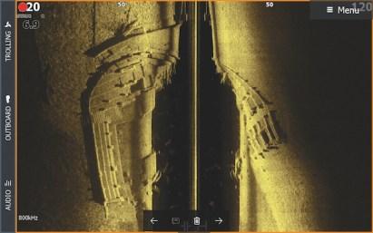 Il Side-scanning punta la sua attenzione a quello che si trova ai lati della nostra imbarcazione.