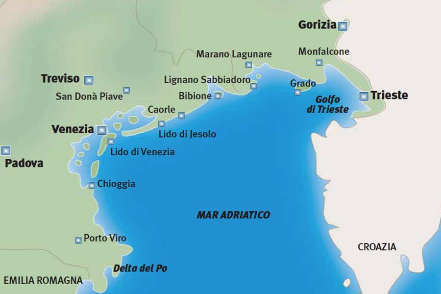 Mappa Alto Adriatico