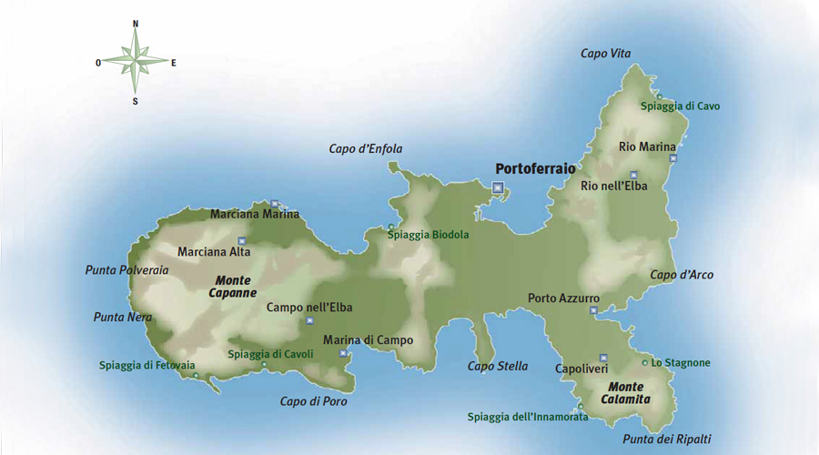 Elba Mappa