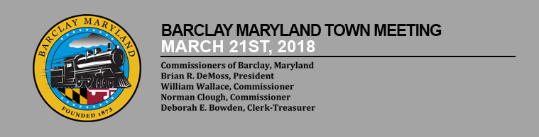 Barclay Town Meeting – March 21st, 2018