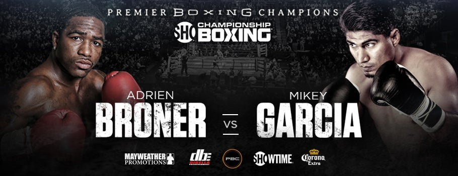 Image result for adrien broner vs mikey garcia