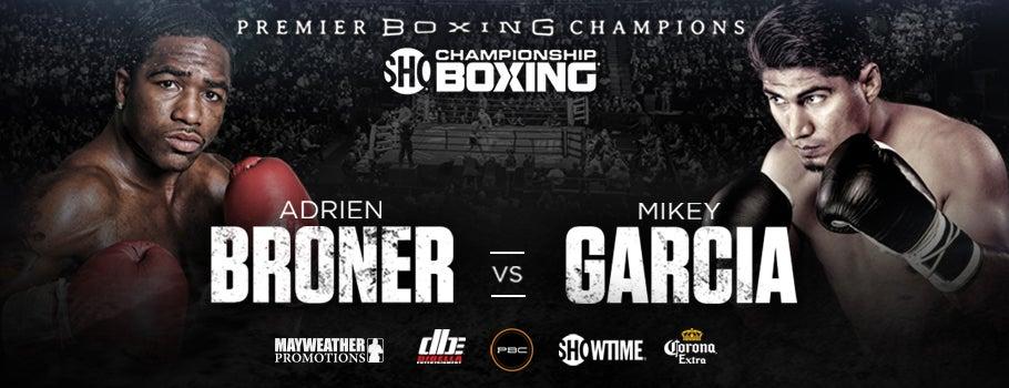 Image result for adrien broner vs mikey garcia