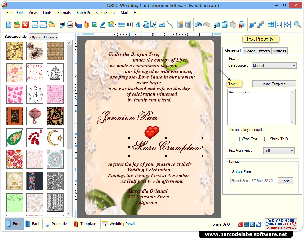 Create Marriage Invitation Card