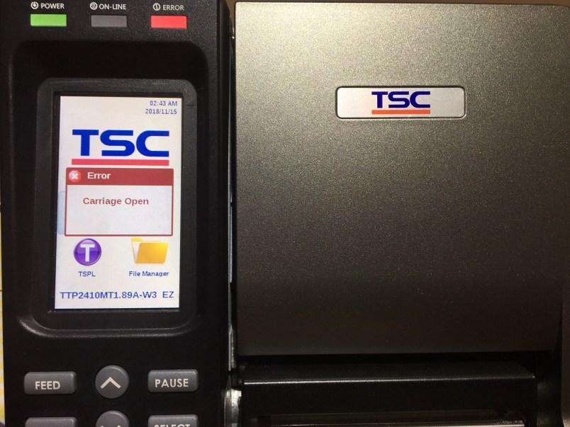 TSC Barcode Printer Problem