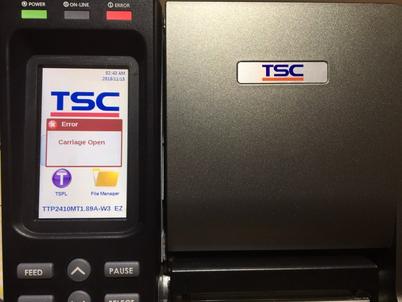 TSC Barcode Printer Problem-Barcode Southwest