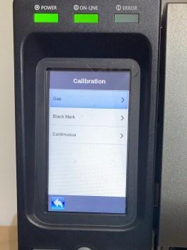 barcode label calibration