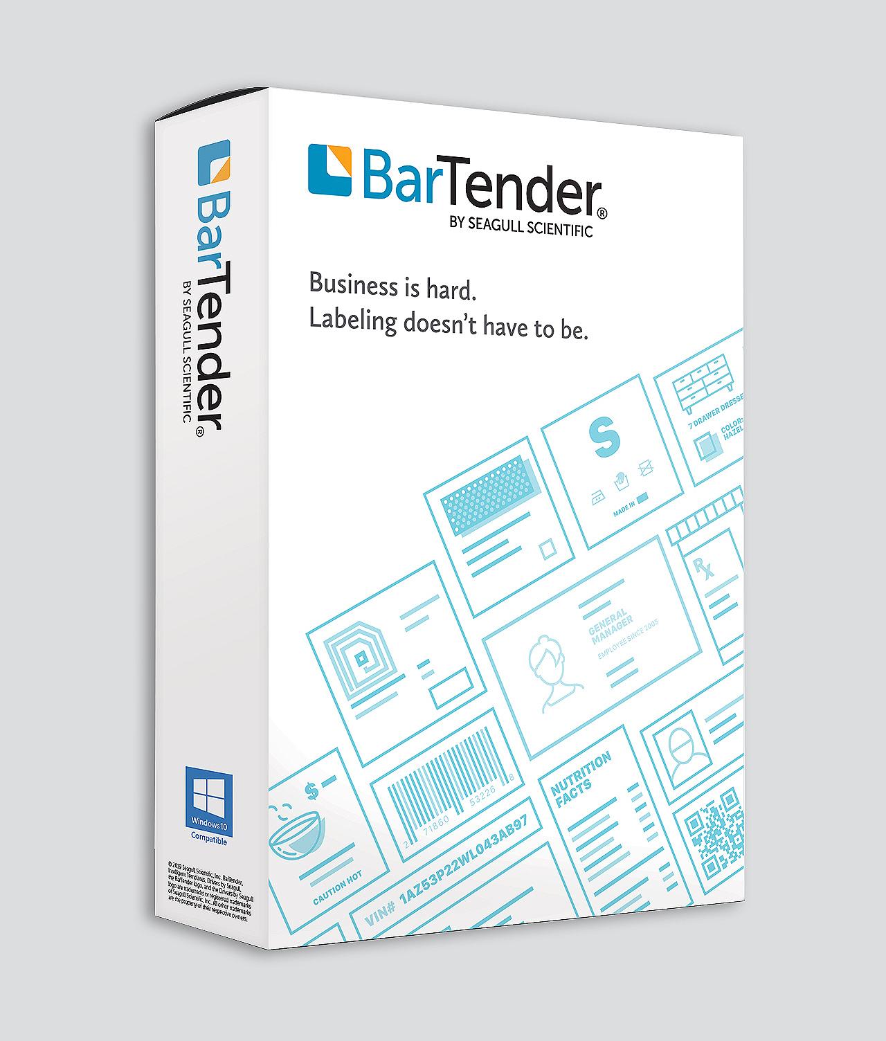 Bartender Label Design Software By Seagull Scientific Barcode Southwest