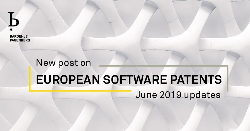 EUROPEAN SOFTWARE PATENTS June 2019 updates