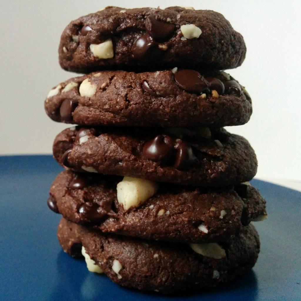 Double Chocolate Macadamia Nut Cookies (GF, DF, SF)