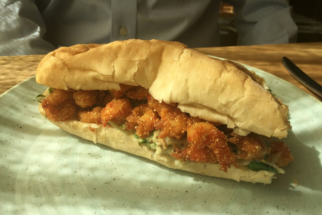Bernadine's Fried Shrimp and Oyster Poboy