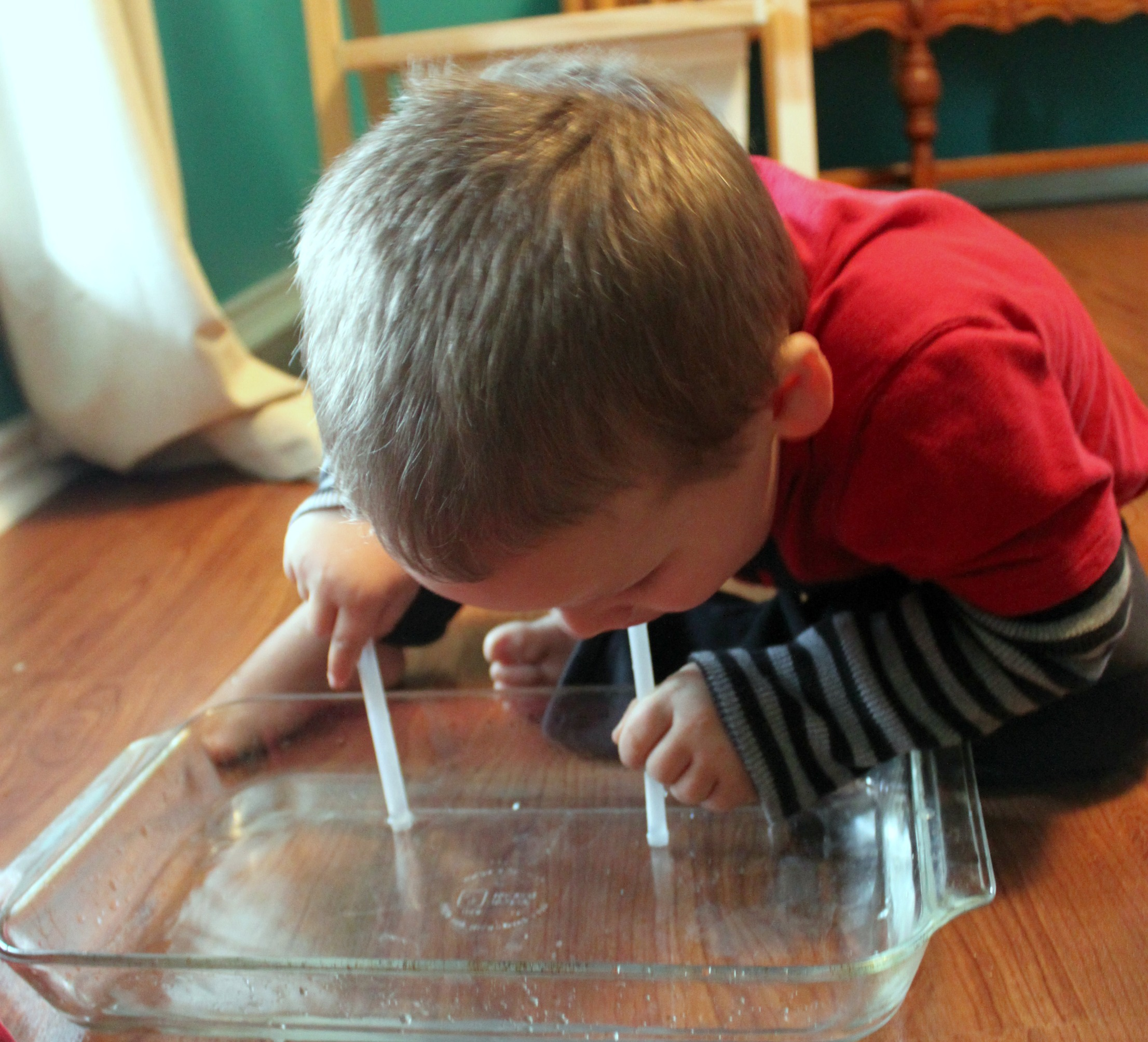 A Preschool Water Experiment To Teach About Moses And The Red Sea Using The Jesus Storybook