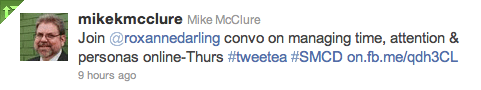 tweet posted by @mikekmcclure