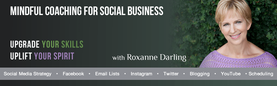 header graphic for Roxanne Darling, Your Social Business Coach