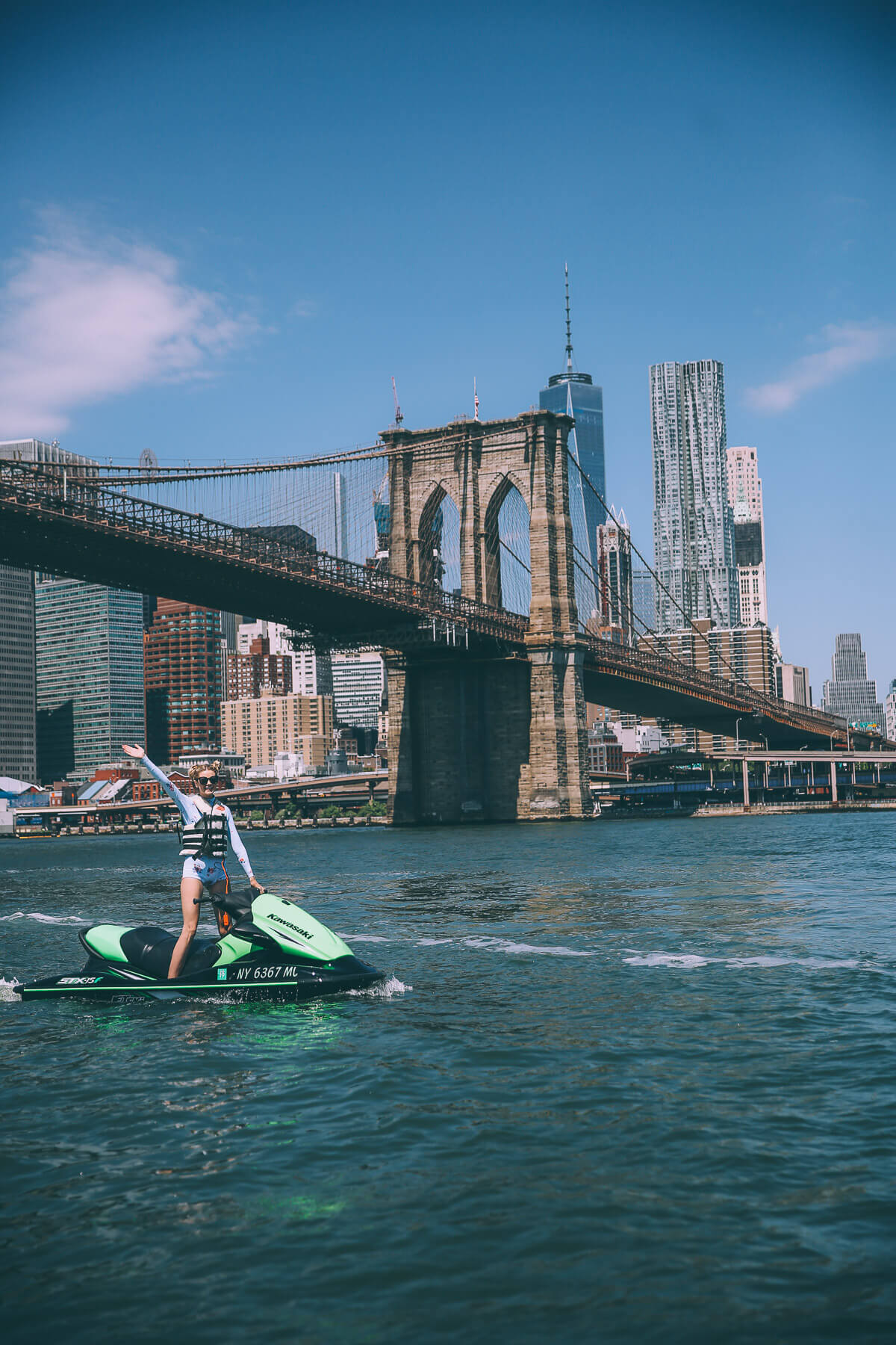 Jet Skiing The Hudson Barefoot Blonde By Amber Fillerup