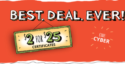 Save over 90%!! $25 Restaurant.com Gift Card Just $2!