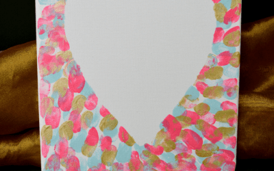 Easy DIY Canvas Art ~ Heart ~ Thumbprint