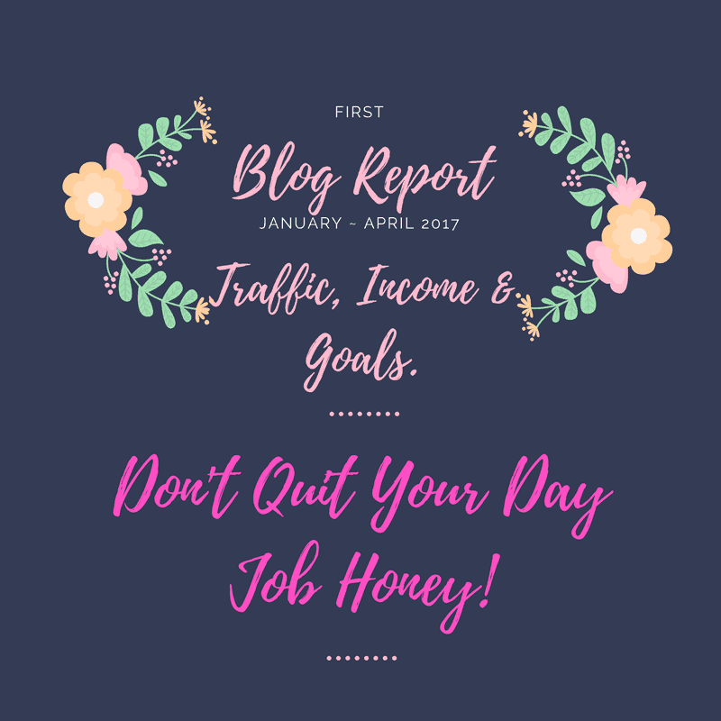 blogging traffic income goals report