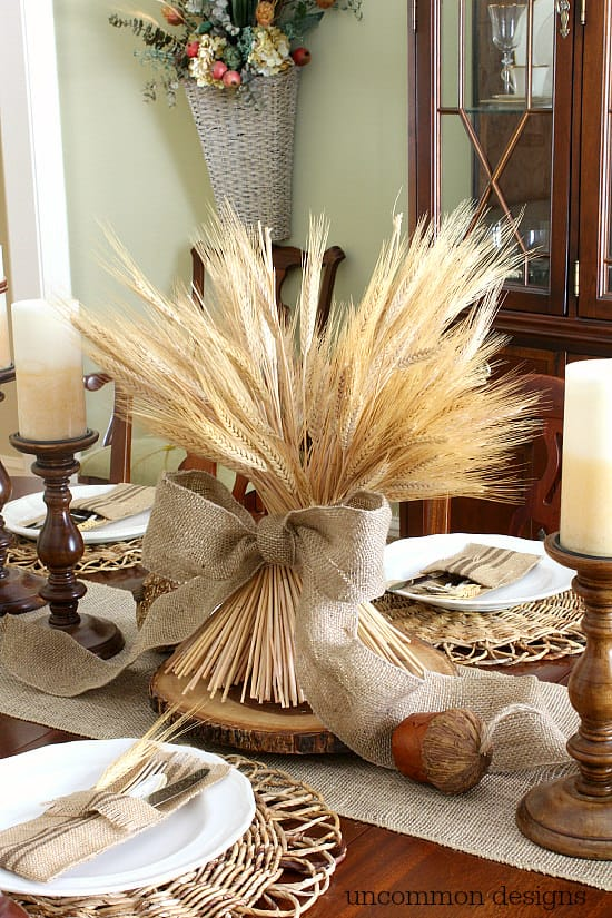 frugal table decor