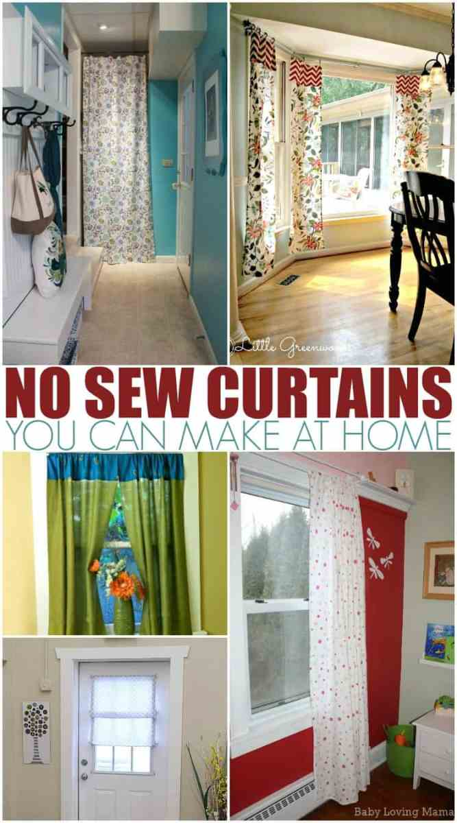 No Sew Curtains You Can Make on a Budget!